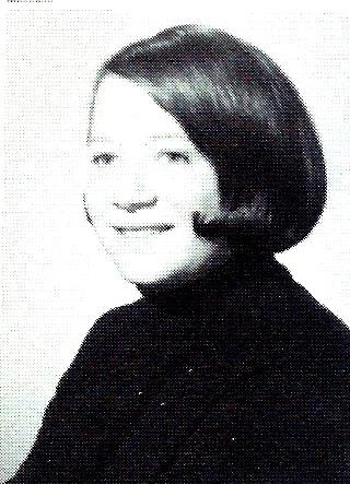 Debra posing in the yearbook, 1970