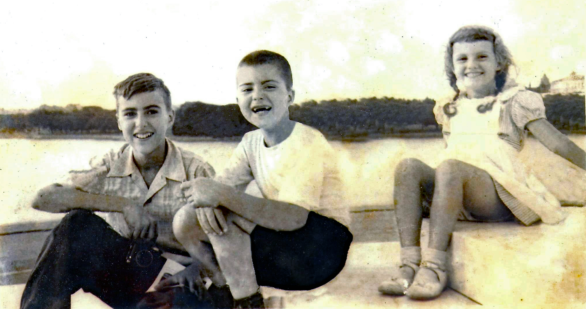 Denis, Bob and Pam, circa 1949
